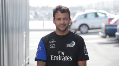 Emirates Team New Zealand assistant Chef Gaston Floppa