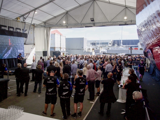 Emirates Team New Zealand hosted the offical team suppliers function at the team base