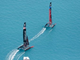 Louis Vuitton America's Cup Match Racing Day 4. Emirates Team New Zealand vs. Oracle Team USA races 7 & 8.   Copyright: Richard Hodder / Emirates Team New Zealand