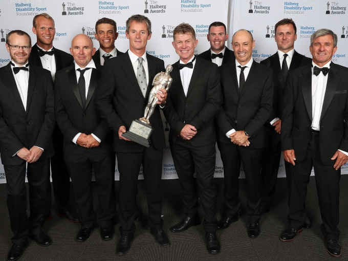 The Halberg Supreme Award winner is Emirates Team New Zealand, Yachting at the 55th Halberg Awards in support of the Halberg Disability Sport Foundation, Spark Arena, Auckland, New Zealand, Thursday, February 08, 2018. Copyright photo: David Rowland / www.photosport.nz
