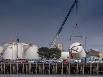Emirates Team New Zealand  36th America's Cup   Future America's Cup Village Tanks move